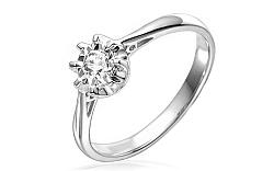 Zlatý zásnubný prsteň s diamantom Malene white IZBR047A