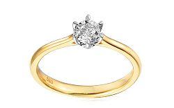 Zlatý zásnubný prsteň s diamantom Nairi IZBR044