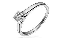Zlatý zásnubný prsteň s diamantom Sanie white IZBR050A