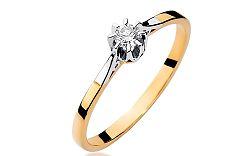 Zlatý zásnubný prsteň s diamantom Sierra BSBR036