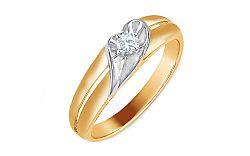 Zlatý zásnubný prsteň s diamantom Tejana KU486