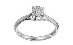 Zlatý zásnubný prsteň s diamanty Maris white IZBR035A