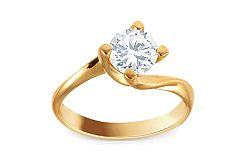 Zlatý zásnubný prsteň s kameňom Mikaila IZ9374