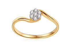 Zlatý zásnubný prsteň so zirkónmi Jazzmyn IZ11274