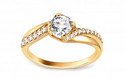 Zlatý zásnubný prsteň so zirkónmi Karina yellow CSRI1306Y