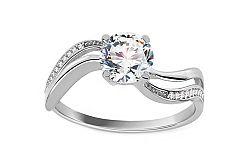 Zlatý zásnubný prsteň so zirkónmi Madyson white IZ11294A