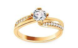 Zlatý zásnubný prsteň so zirkónmi Rosana yellow CSRI1857Y