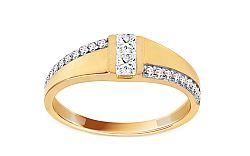 Zlatý zásnubný prsteň so zirkónmi Taraji IZ11373