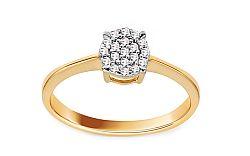 Zlatý zásnubný prsteň so zirkónmi Tess IZ11407