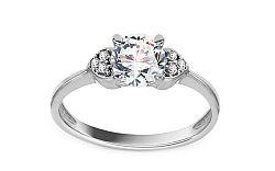 Zlatý zásnubný prsteň so zirkónmi Villetta white IZ11284A