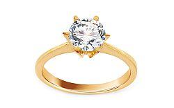 Zlatý zásnubný prsteň so zirkónom Delilah IZ11301