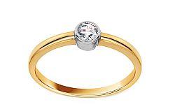 Zlatý zásnubný prsteň so zirkónom Janis IZ10621