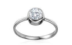 Zlatý zásnubný prsteň so zirkónom Neiva IZ10615A