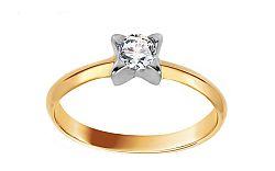 Zlatý zásnubný prsteň so zirkónom Raven IZ10623
