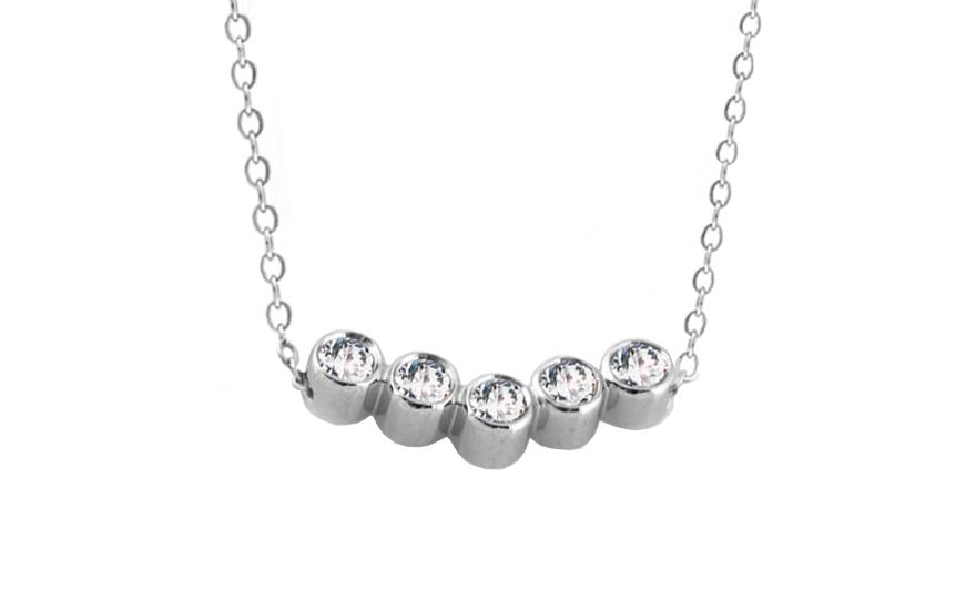 e4c203f86 Diamantový náhrdelník Lea white 0,160 ct KU276 | ZlatáHorúčka.sk