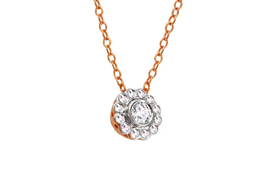 109ac4729 Diamantový náhrdelník z ružového zlata KU451 | ZlatáHorúčka.sk