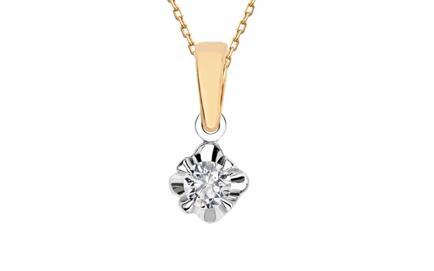 a33bdf632 Diamantový prívesok 0,167 ct Always middle CSBR26P | ZlatáHorúčka.sk