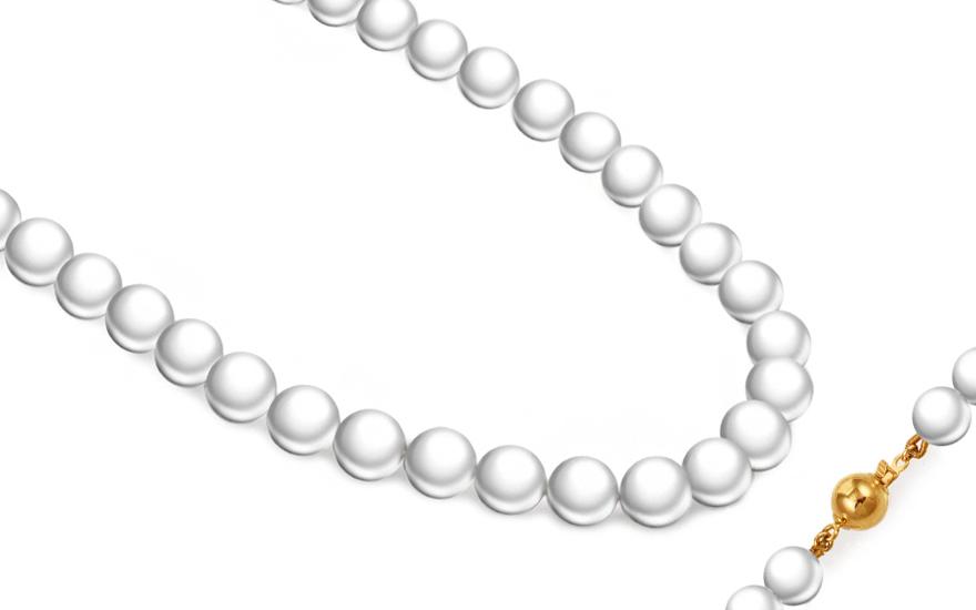Náhrdelník z prírodných bielych perál PE216  982b349d715