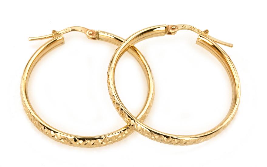 abe1889c59b4 Náušnice zlaté kruhy 3