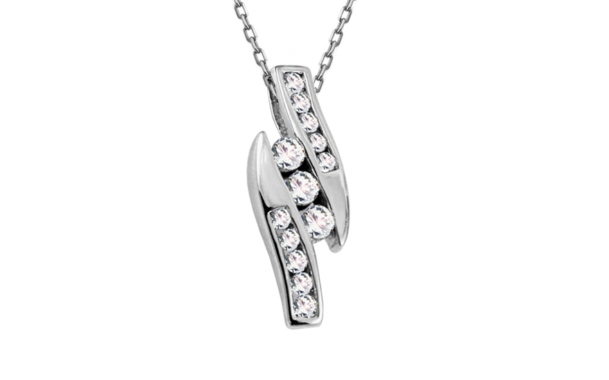 6151745ab Prívesok z bieleho zlata s diamantmi Malia KU544AP | ZlatáHorúčka.sk