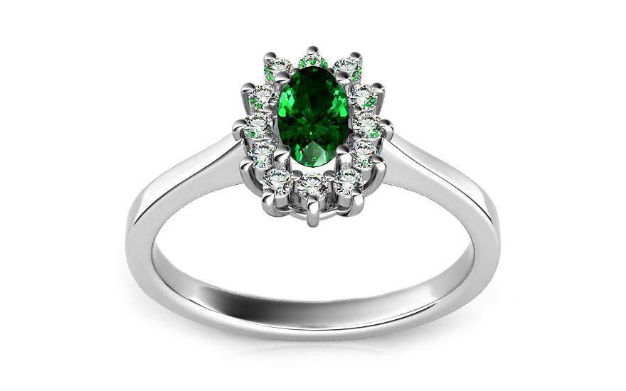 Smaragdový prsteň s 0 c5abaca6f06