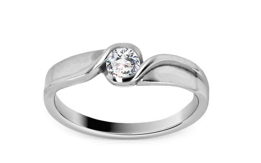 99b10989b Zásnubný prsteň Elise 6 biele zlato CS9RI1502A   ZlatáHorúčka.sk