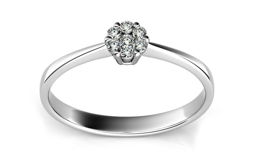 590d0ecf0 Zásnubný prsteň s 0,110 ct briliantmi Passion 2 white ARBR09 ...