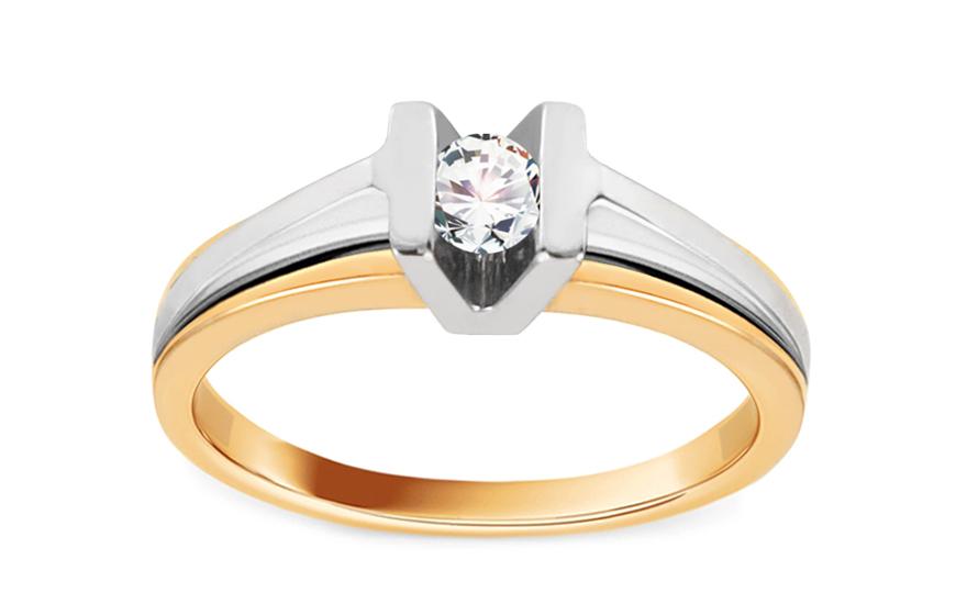 79b5ca99b Zásnubný prsteň s 0,140 ct briliantom Diamond for you CSBR14 ...