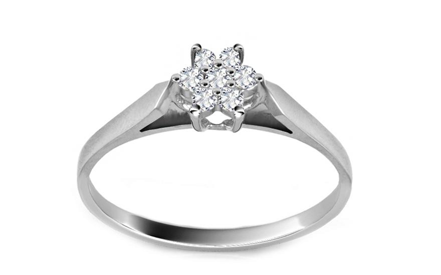 a68d9bd08 Zásnubný prsteň s briliantom 0,120 ct Flower ARBR29 | ZlatáHorúčka.sk