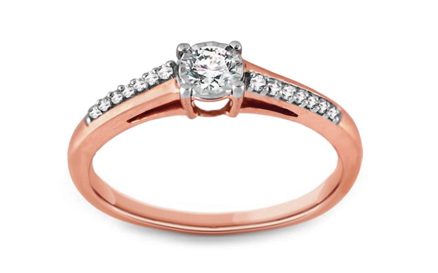 Zásnubný prsteň s diamantmi 0 63bb1246342