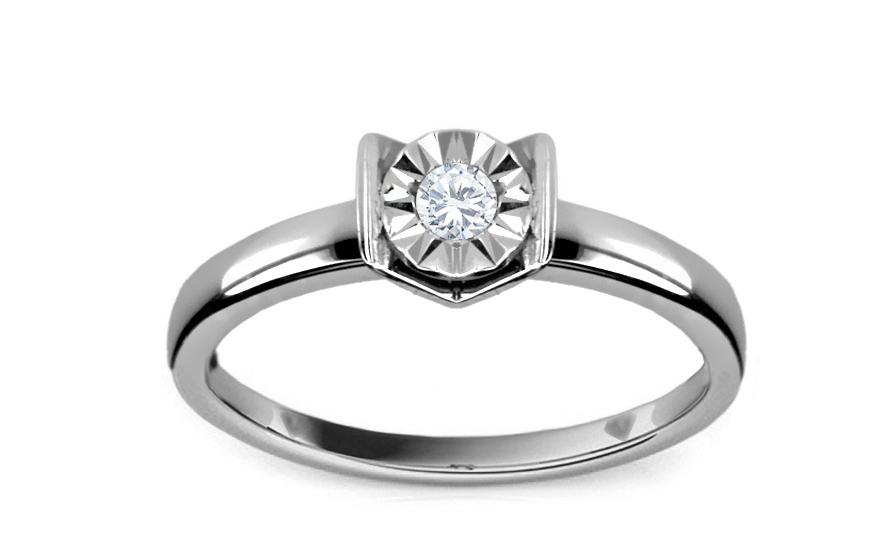 4dec16980 Zásnubný prsteň s diamantom 0,070 ct Mariya 4 KU158 | ZlatáHorúčka.sk