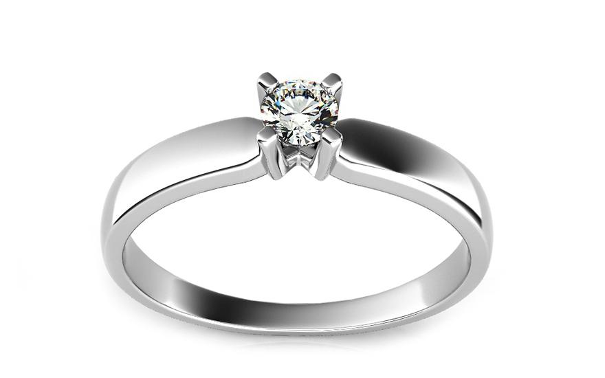 1876c1712 Zásnubný prsteň s diamantom 0,120 ct Promise 2 ARBR02 | ZlatáHorúčka.sk