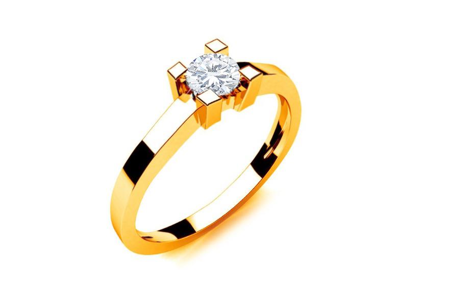 781822c75 Zásnubný prsteň s diamantom 0,230 ct Royal Heart 2 Yellow LRBR006Y ...