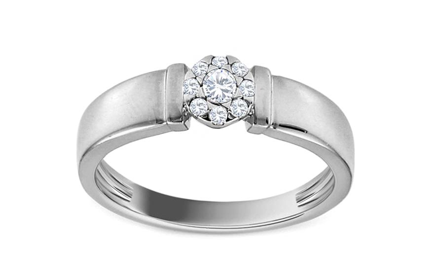 85ba5931e Zásnubný prsteň s diamantom Chantel z bieleho zlata KU569A ...