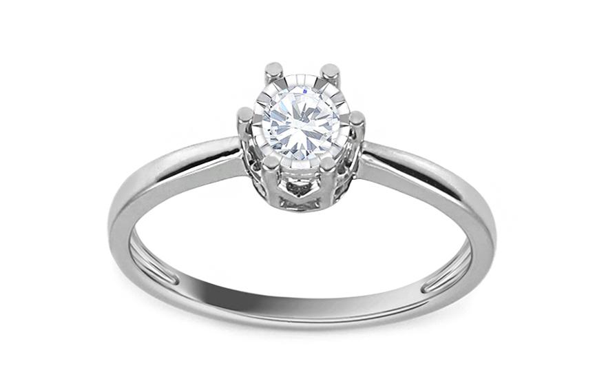 1f8306c64 Zásnubný prsteň z bieleho zlata s diamantom Bianca KU540A ...