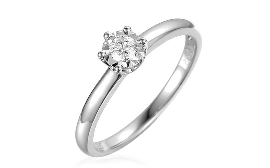 Zásnubný prsteň z bieleho zlata s diamantom Jarona IZBR312A ... 822c650a326