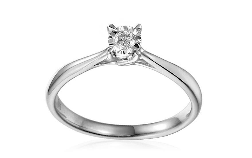 2bae67162 Zásnubný prsteň z bieleho zlata s diamantom Vianne IZBR314A ...
