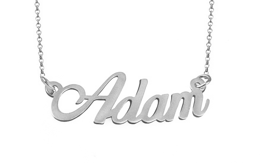 Zlatá biela retiazka s menom Adam IZ9076A  c43e17f2ae2