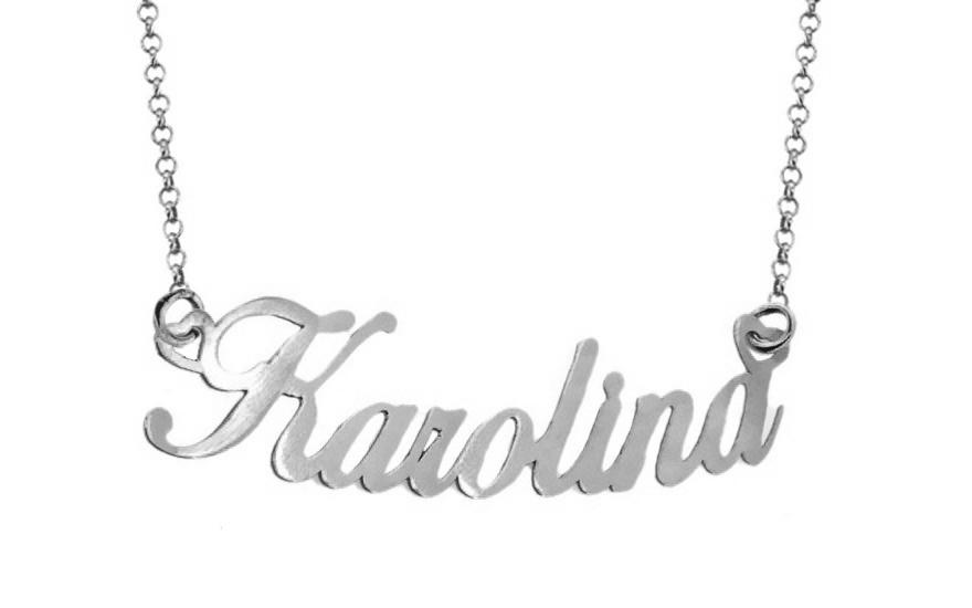 Zlatá biela retiazka s menom Karolina IZ8080A  185bb6f4c0a