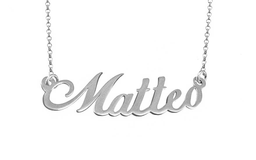 Zlatá biela retiazka s menom Matteo IZ9072A  c7541cff84e