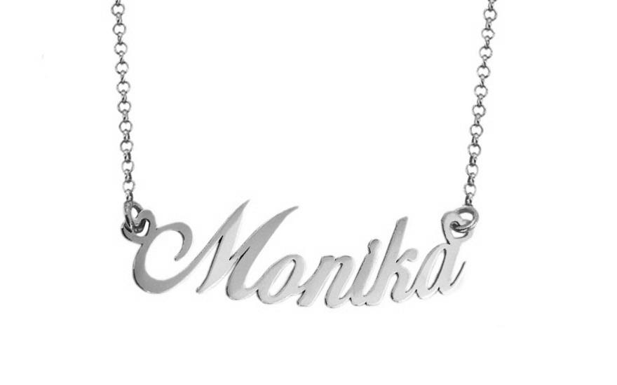 0ceddd22c1 Zlatá biela retiazka s menom Monika IZ7579A