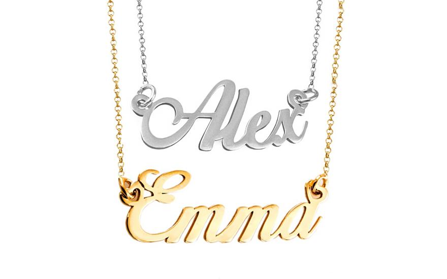 Zlatá dvojitá retiazka s menami Emma a Alex kombinovaná IZ9077AE ... f3134de5bd4
