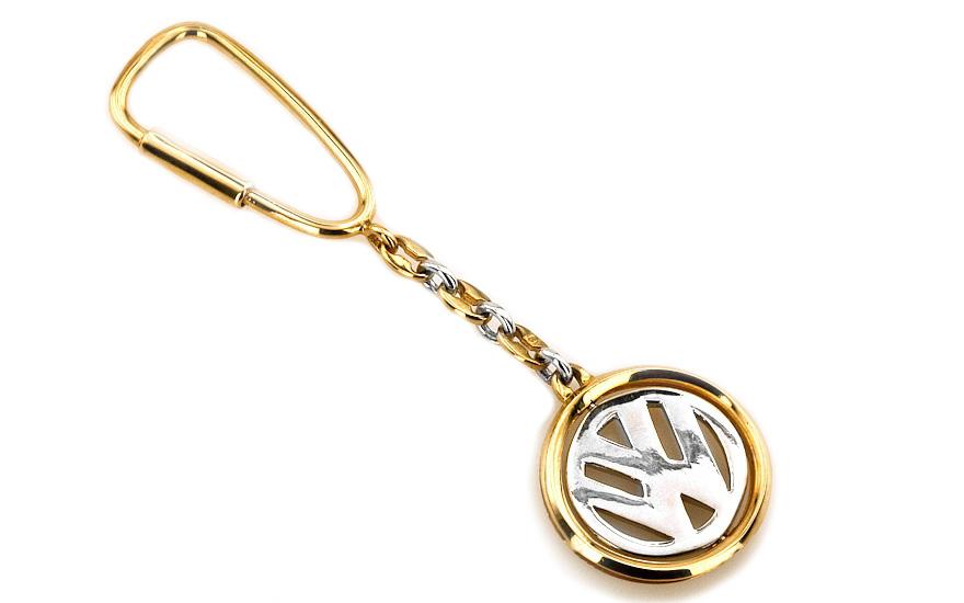 5f15a408d Zlatá kľúčenka W volkswagen zo 14 K žltého a bieleho zlata IZ1036 ...