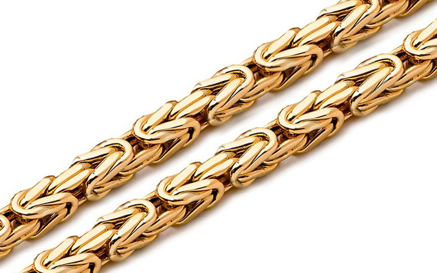 f0cfc4394 Zlatá retiazka kráľovský vzor 4 mm IZ6306 | ZlatáHorúčka.sk