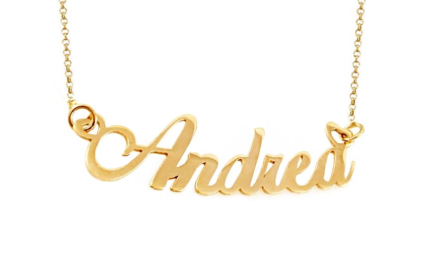 Zlatá retiazka s menom Andrea IZ9898  1cb16db17e1