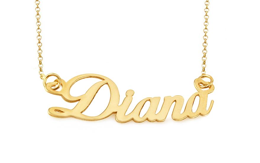 2118cede1 Zlatá retiazka s menom Diana IZ9884 | ZlatáHorúčka.sk