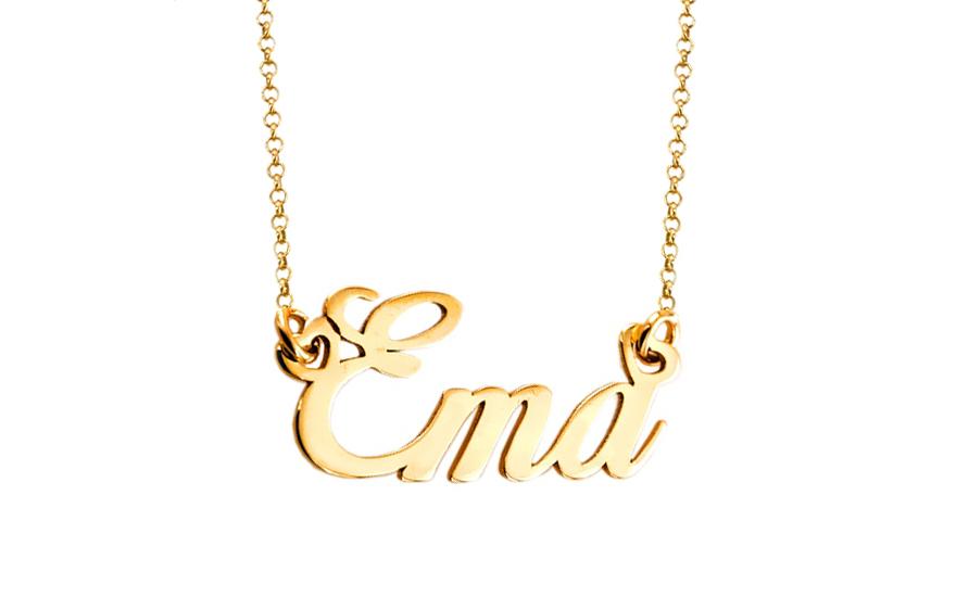 Zlatá retiazka s menom Ema IZ7877  e0318a4064b