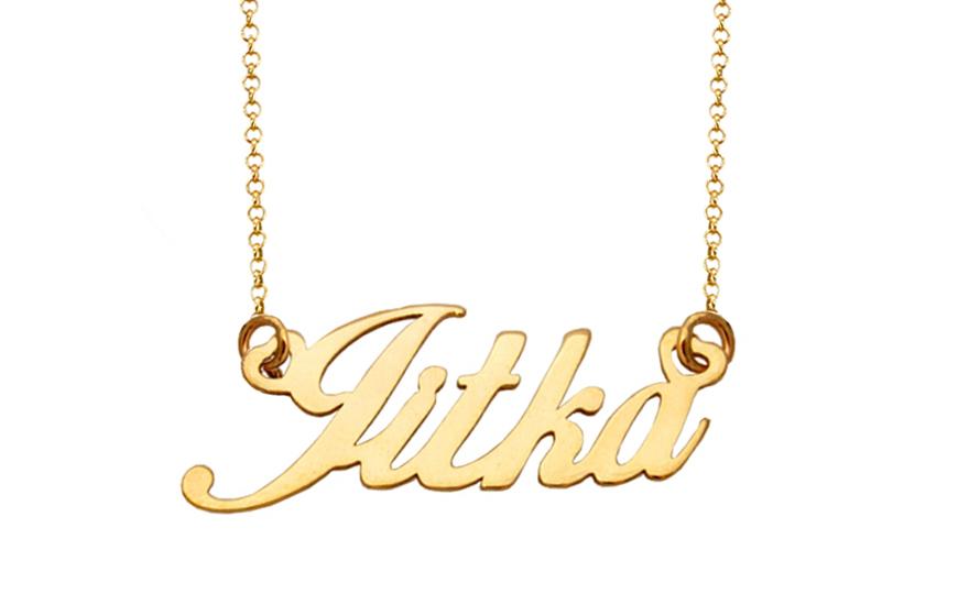 a17d82d31 Zlatá retiazka s menom Jitka IZ8234 | ZlatáHorúčka.sk