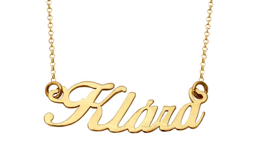 1912ad55d1 Zlatá retiazka s menom Klára IZ8233