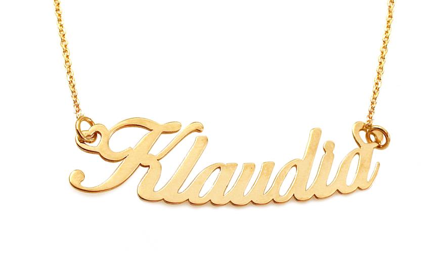 47dc63617 Zlatá retiazka s menom Klaudia IZ10962 | ZlatáHorúčka.sk